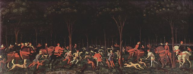 Paolo Uccello: Jagd bei Nacht