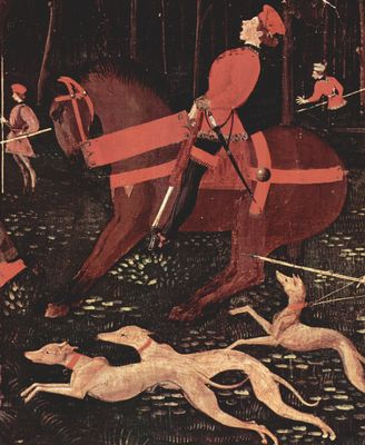 Paolo Uccello: Jagd bei Nacht, Detail