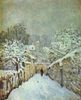 Alfred Sisley: Schnee in Louveciennes